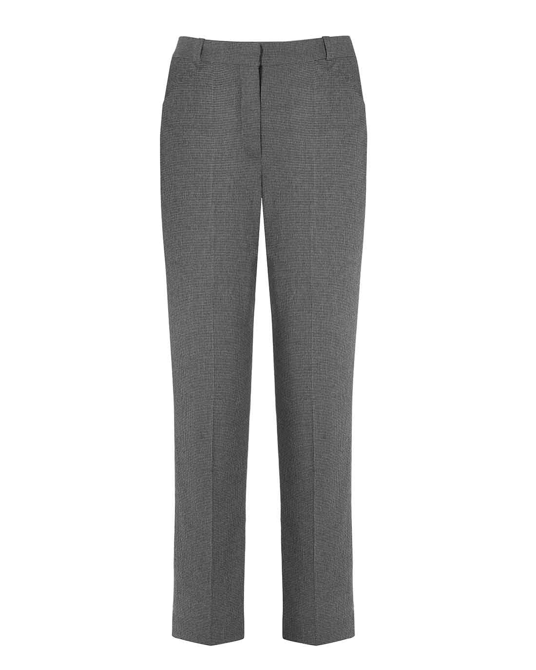 High waist herringbone tailored cigarette suit trouser for work