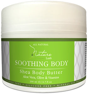 Nature Lush Organic Aloe Vera Shea Butter with Almonds