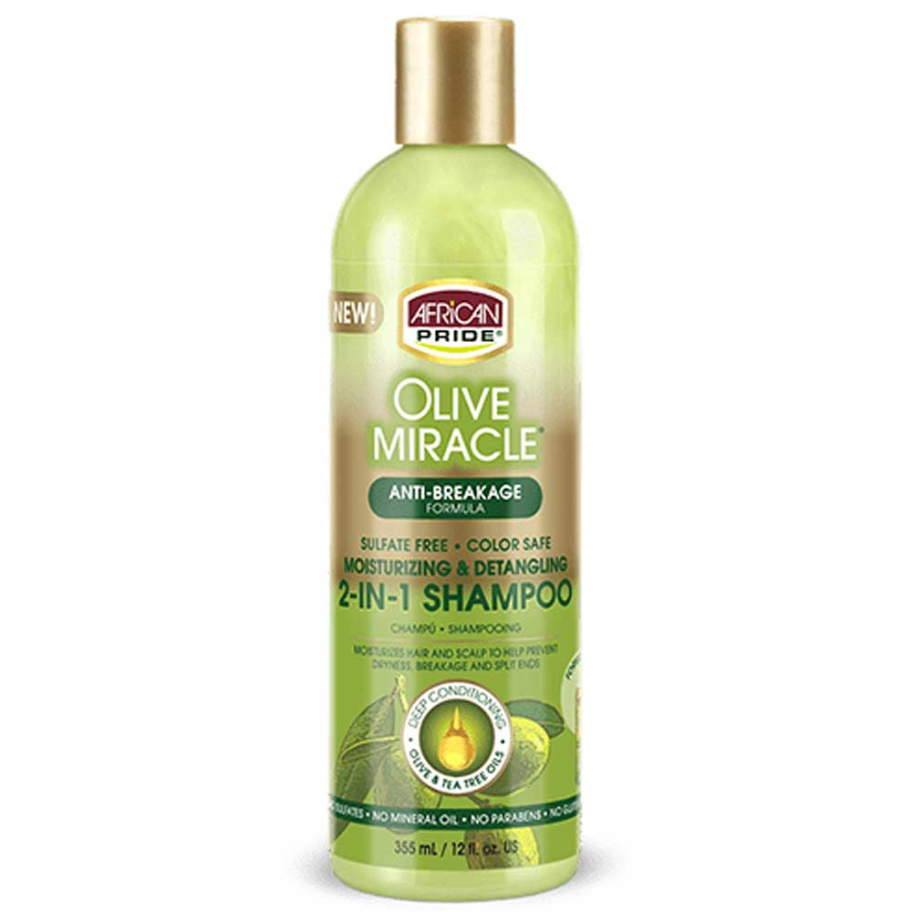 AFRICAN PRIDE OLIVE MIRACLE 2 IN 1 SHAMPOO & CONDITIONER