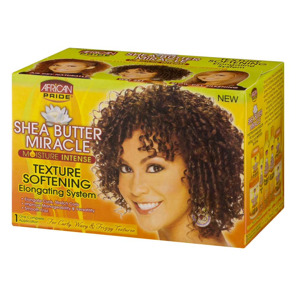 AFRICAN PRIDE SHEA  BUTTER MIRACLE MOISTURE INTENSE TEXTURE SOFTENING SYSTEM