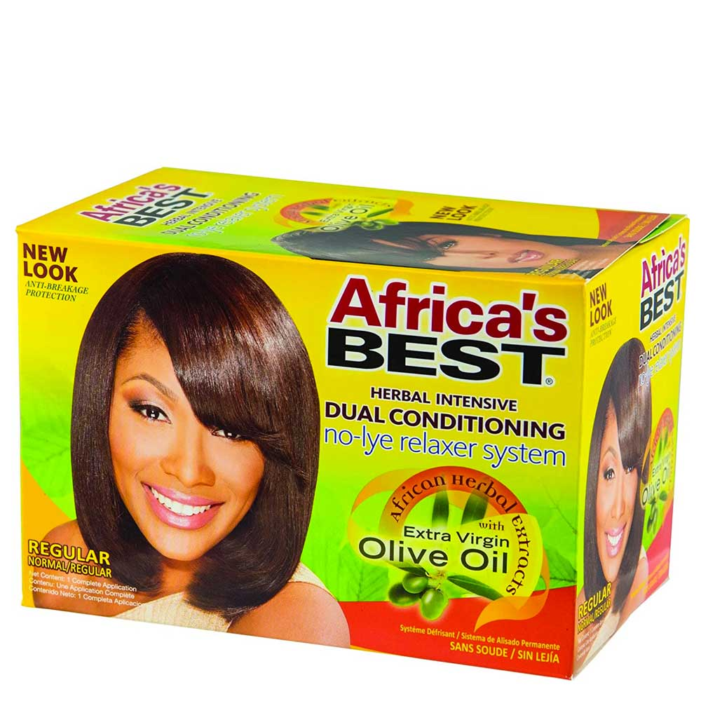 AFRICAS BEST HERBAL INTENSIVE DUAL CONDITIONING NO LYE RELAXER SYSTEM WITH OLIVE OIL