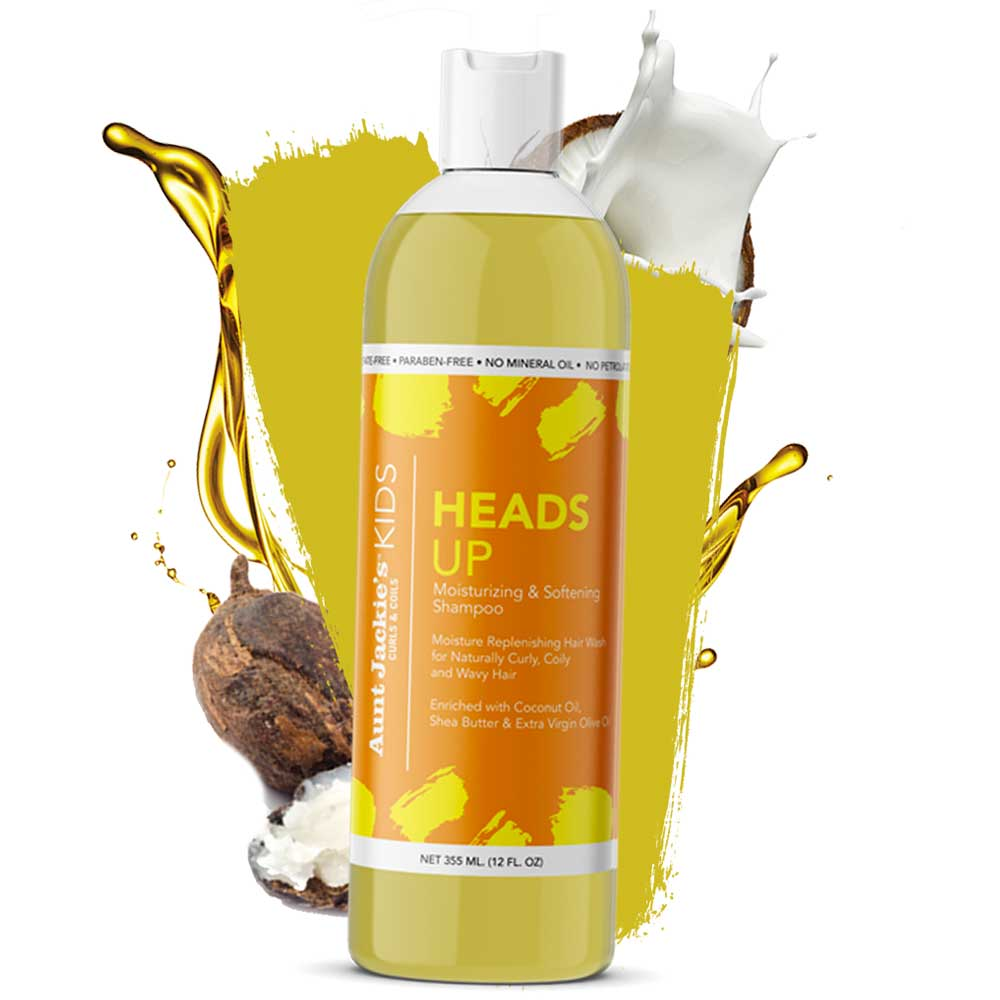 AUNT JACKIES SHEADS UP – MOISTURIZING & SOFTENING SHAMPOO 355ML