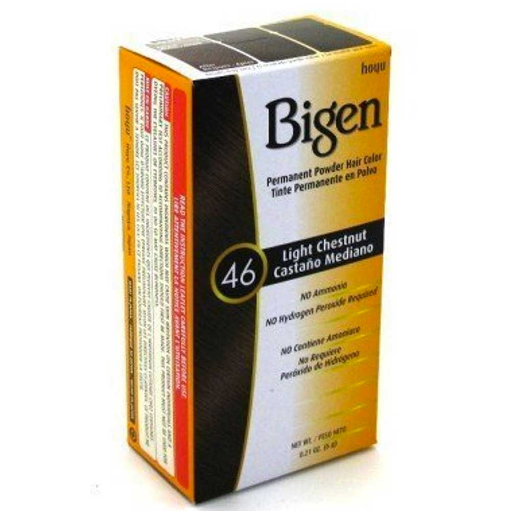 BIGEN DYE 46 HAIR COLOUR DARK LIGHT CHESTNUT
