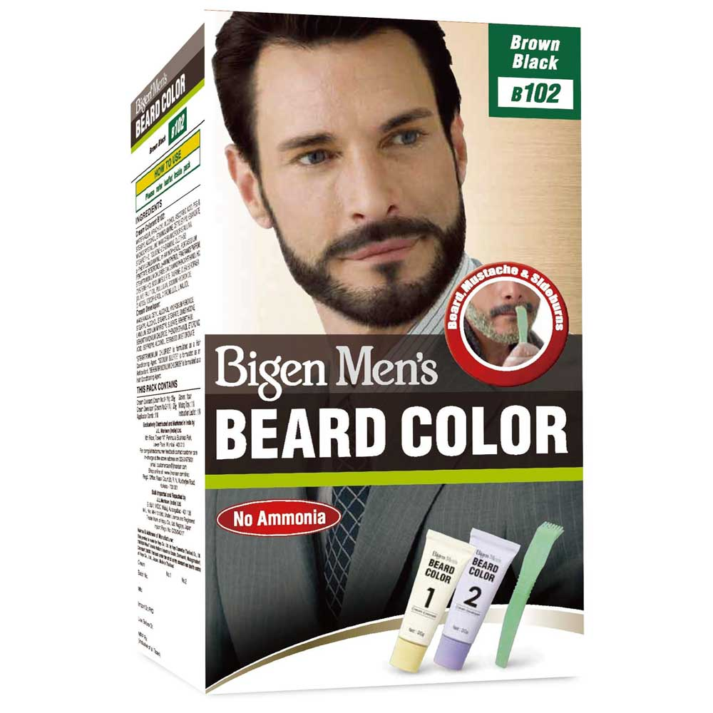 BIGEN DYE MENS BEARD BROWN BLACK 102
