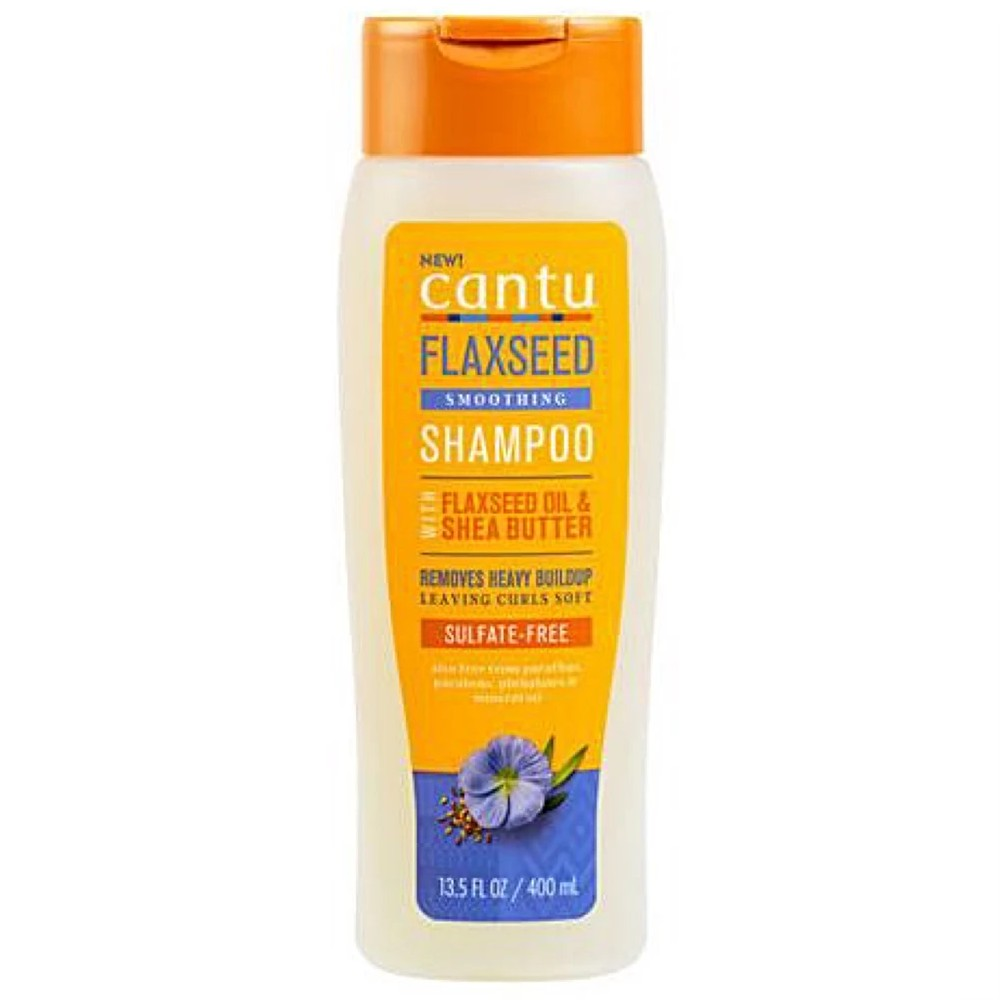 CANTU FLAXSEED SMOOTHING SHAMPOO WITH FLAXSEED OIL & SHEA BUTTER 400ML