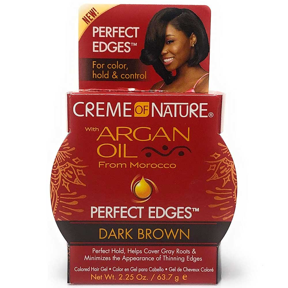 CREME OF NATURE ARGAN OIL PERFECT DARK BROWN 2.25OZ