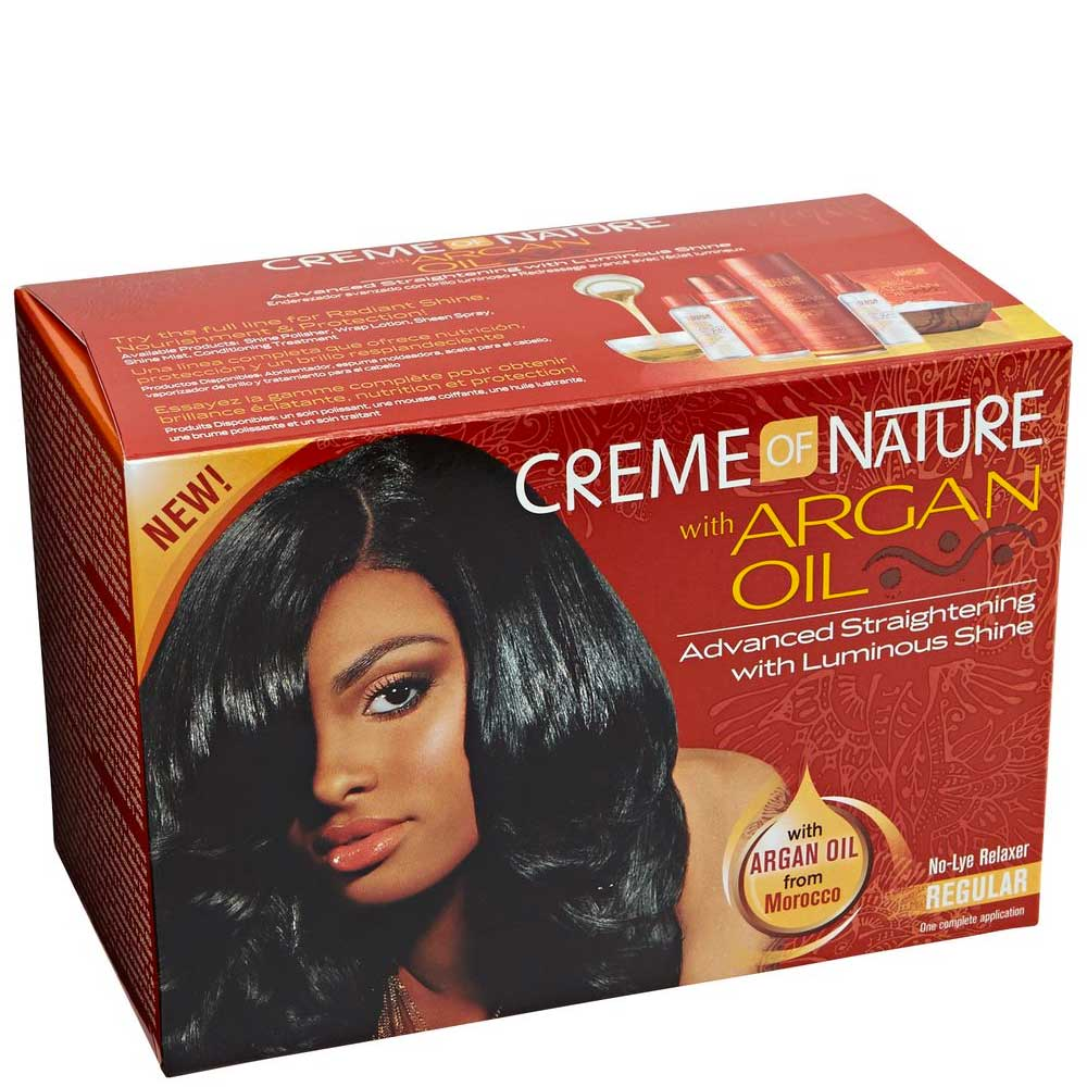 CREME OF NATURE ARGAN OIL RELAXER KIT SUPER X 12