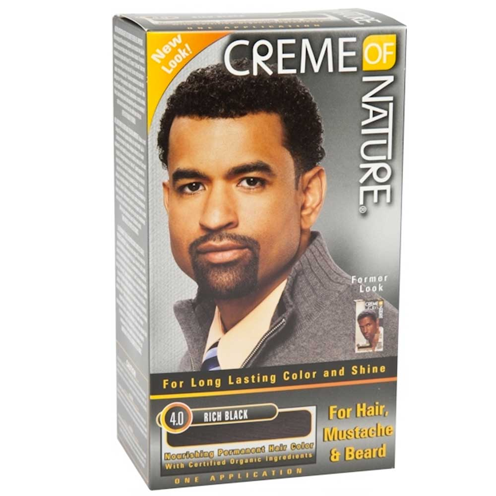 CREME OF NATURE COLOR 4.0 RICH BLACK-MEN