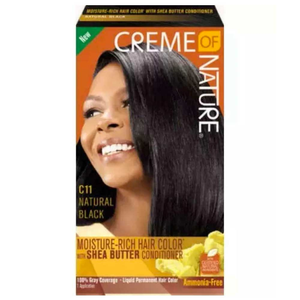 CREME OF NATURE WOMES'S 11 LIQ HAIR COLOR NATURAL BLACK KIT