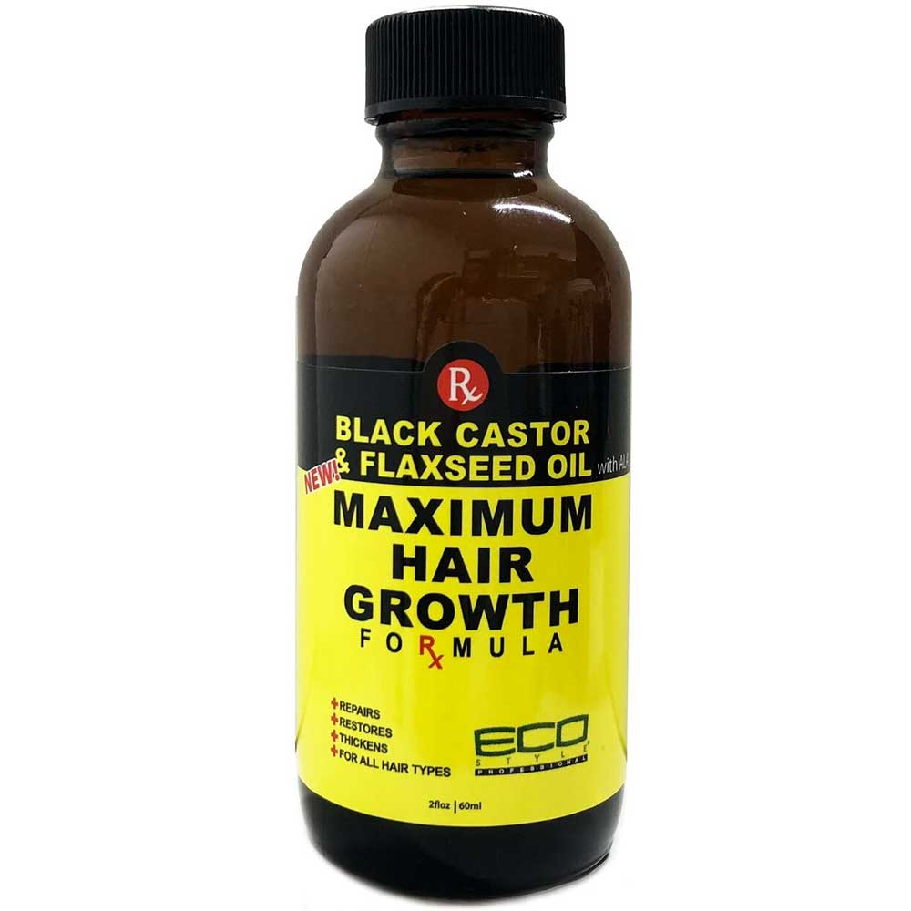 ECO STYLE BLACK CASTOR & FLAXSEED OIL MAXIMUM HAIR GROWTH FORMULA