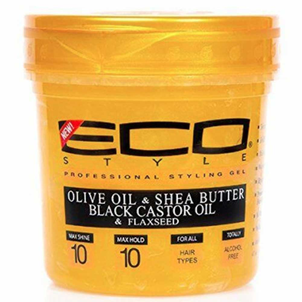 ECO STYLE GOLD OLIVE OIL & SHEA BUTTER STYLING GEL 8OZ