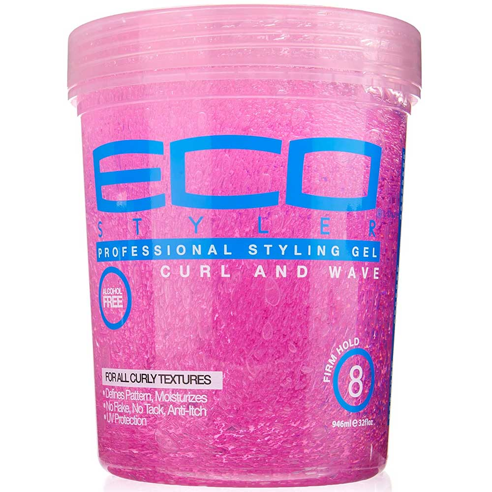 ECO STYLER PINK GEL CURL & WAVE 32OZ