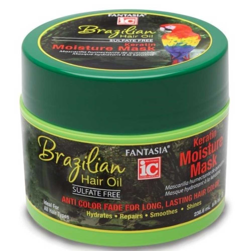 FANTASIA IC BRAZILIZN HAIR OIL KERATIN MOISTURE MASK 8OZ