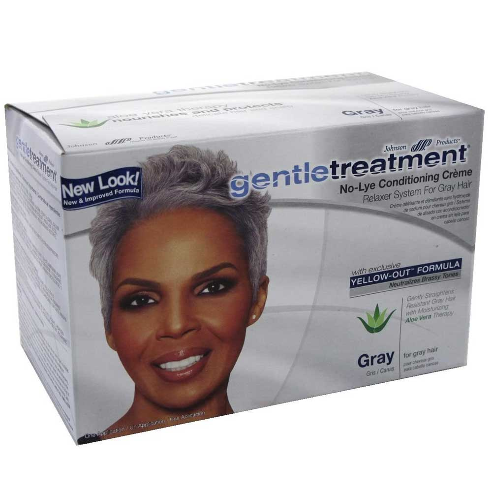 GENTLE TREATMENT NO-LYE CONDITIONING GRAY RELAXER SUPER KIT 6PCS