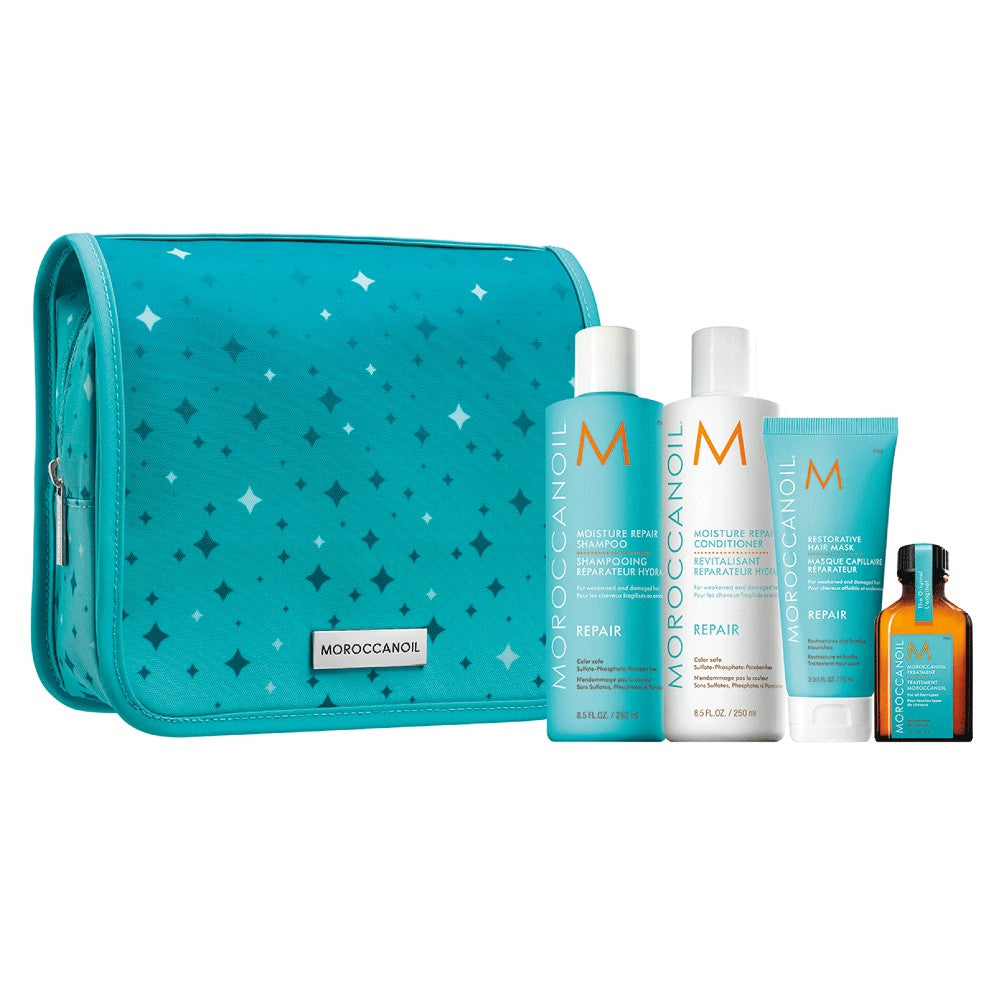 MOROCCANOIL MOISTURE REPAIR SHAMPOO CONDITIONER MASK OIL HOLIDAY GIFTSET