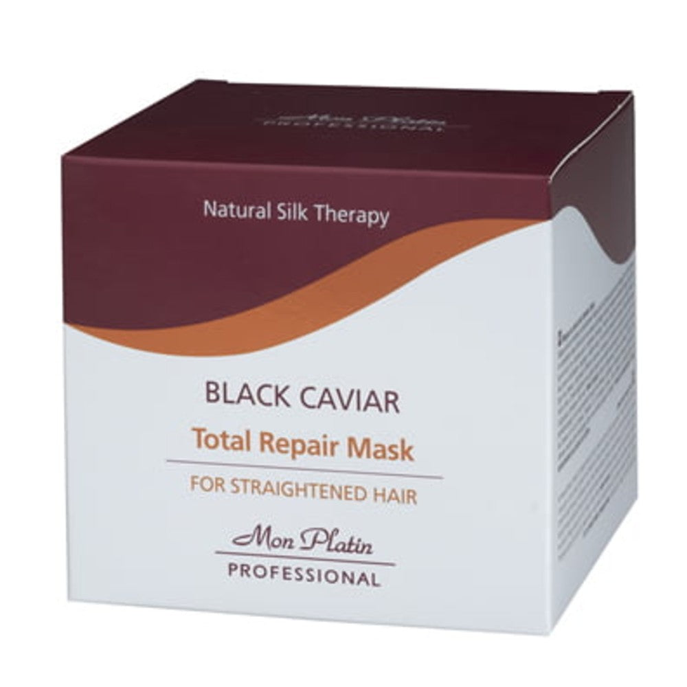 MON PLATIN PROFESSIONAL BLACK CAVIAR TOTAL REPAIR MASK FOR STRAIGHTENED HAIR 500ML