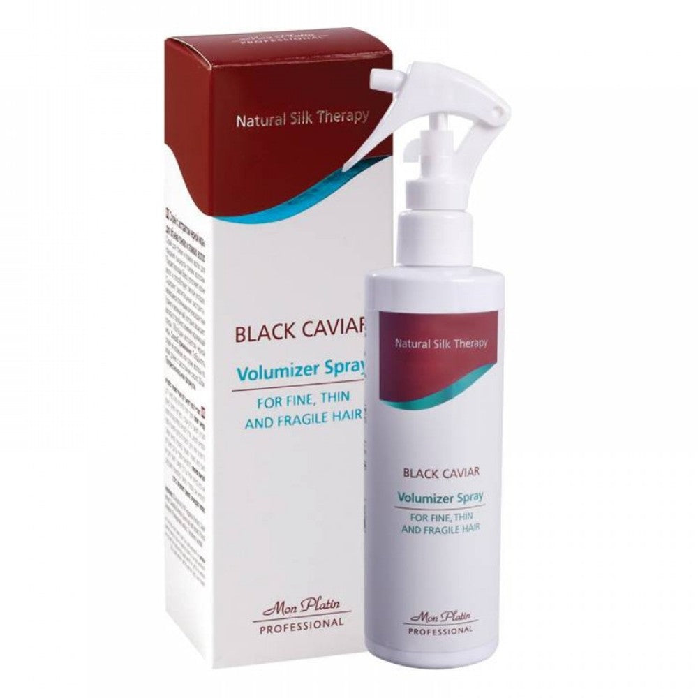 MON PLATIN PROFESSIONAL BLACK CAVIAR VOLUMIZER SPRAY FOR FINE, THIN AND FRAGILE HAIR 125ML