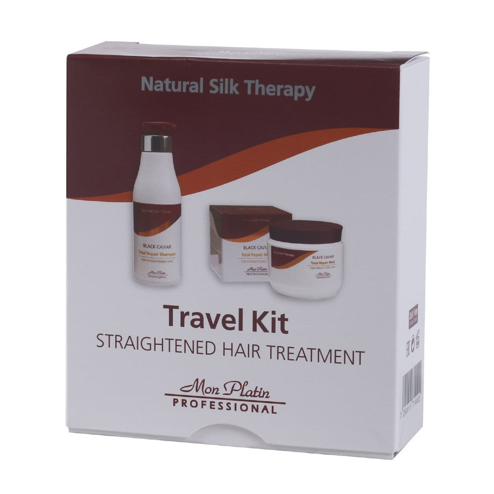 MON PLATIN PROFESSIONAL TRAVEL KIT FOR STRAIGHTENED HAIR SHAMPOO AND MASK