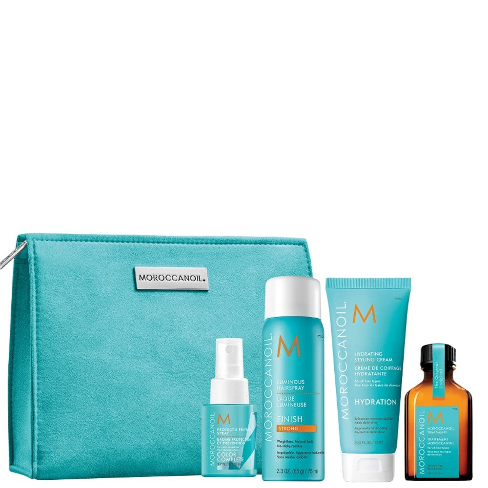 MOROCCANOIL REPAIR SHAMPOO, CONDITIONER, MASK, TREATMENT TRAVEL PACK