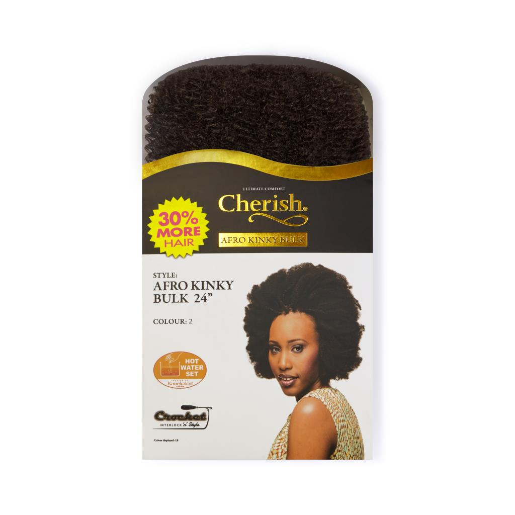"Cherish Bulk - Afro Kinky 24"" ( Color: 2 )"