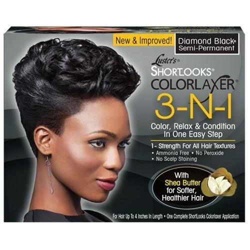 Lusters Pink Short Looks Color Relaxer Kit Black