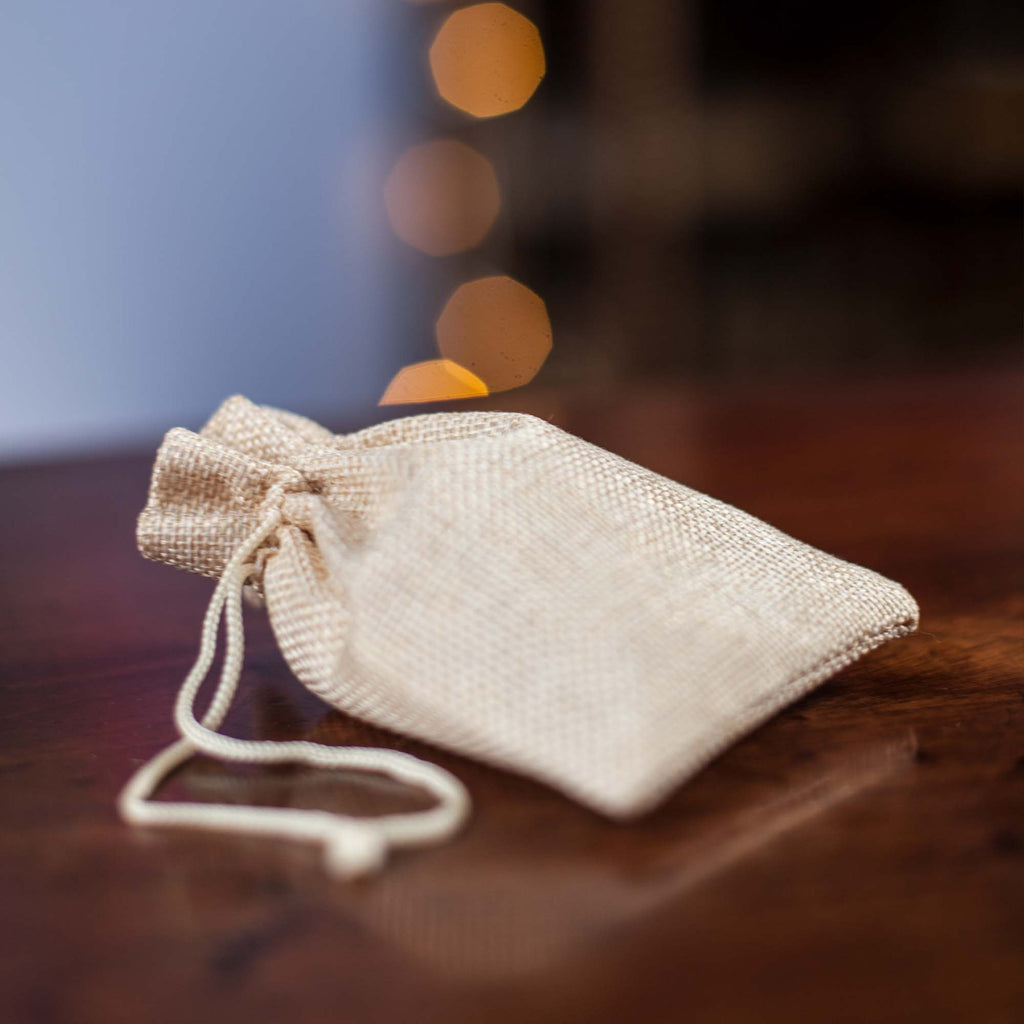 Hessian Battery Bag