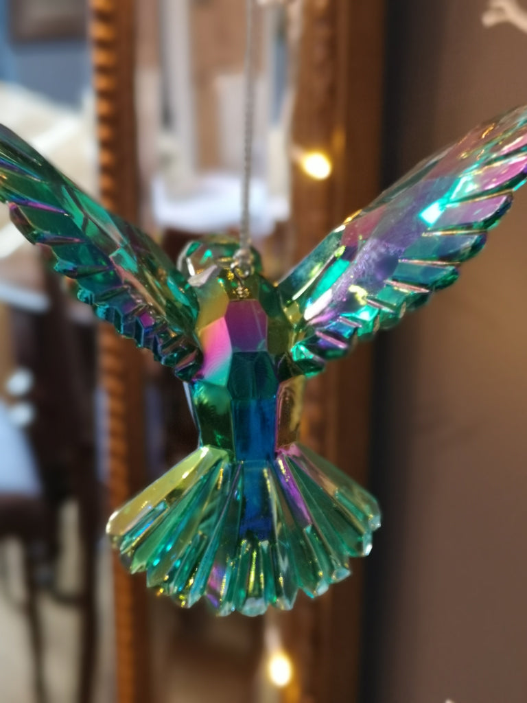 Hummingbird Iridescent Green/Blue