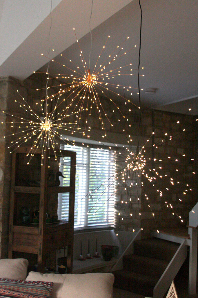 Hanging Starburst Light (Silver)