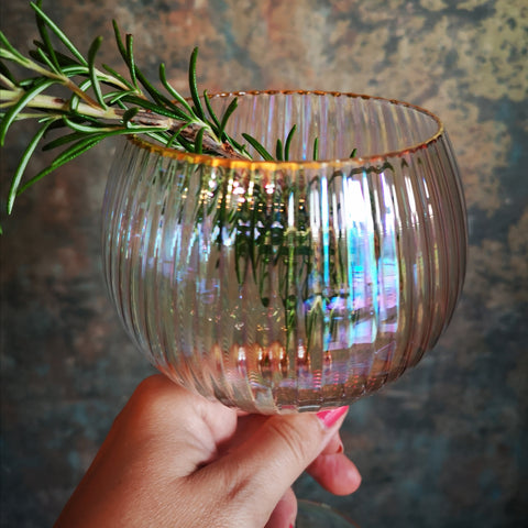 Lustre Ribbed Gin Glasses