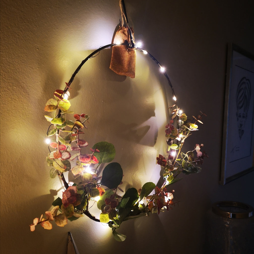 LED Hoop with Eucalyptus
