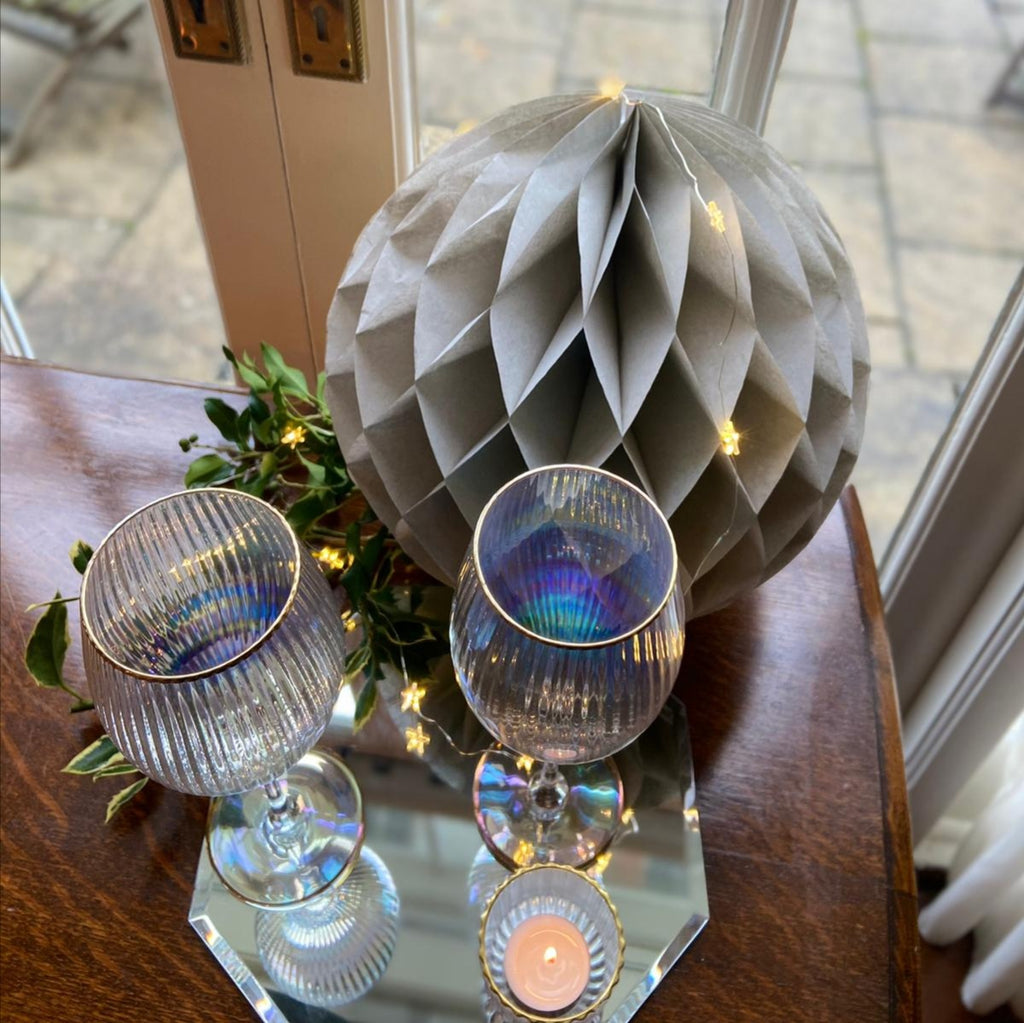 Lustre Ribbed Wine Glasses