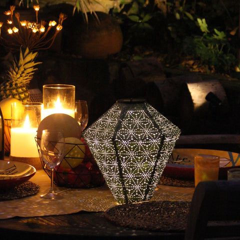 Green Diamond Solar Lantern