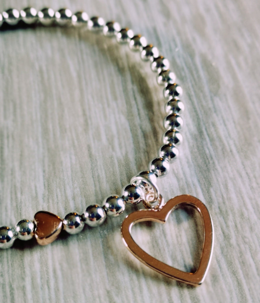 Silver Plated Stacking Charm Bracelets