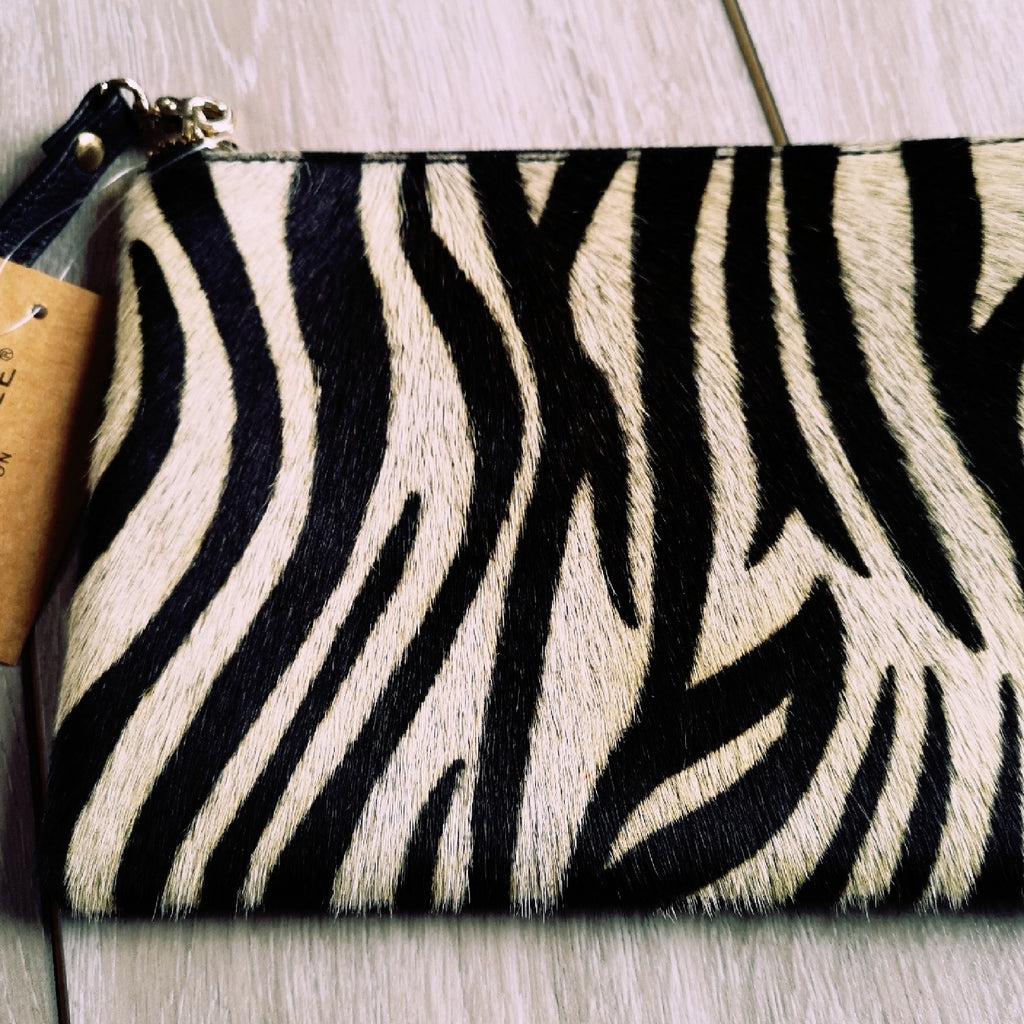 Hand Painted Hyde & Leather Clutch Bags