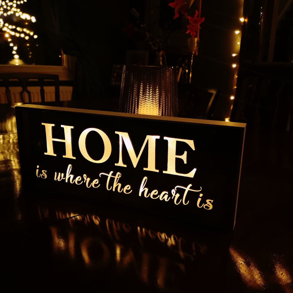 LED Mirror Home Sign