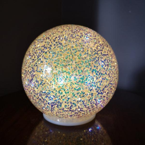 Large Glitter LED Ball Light