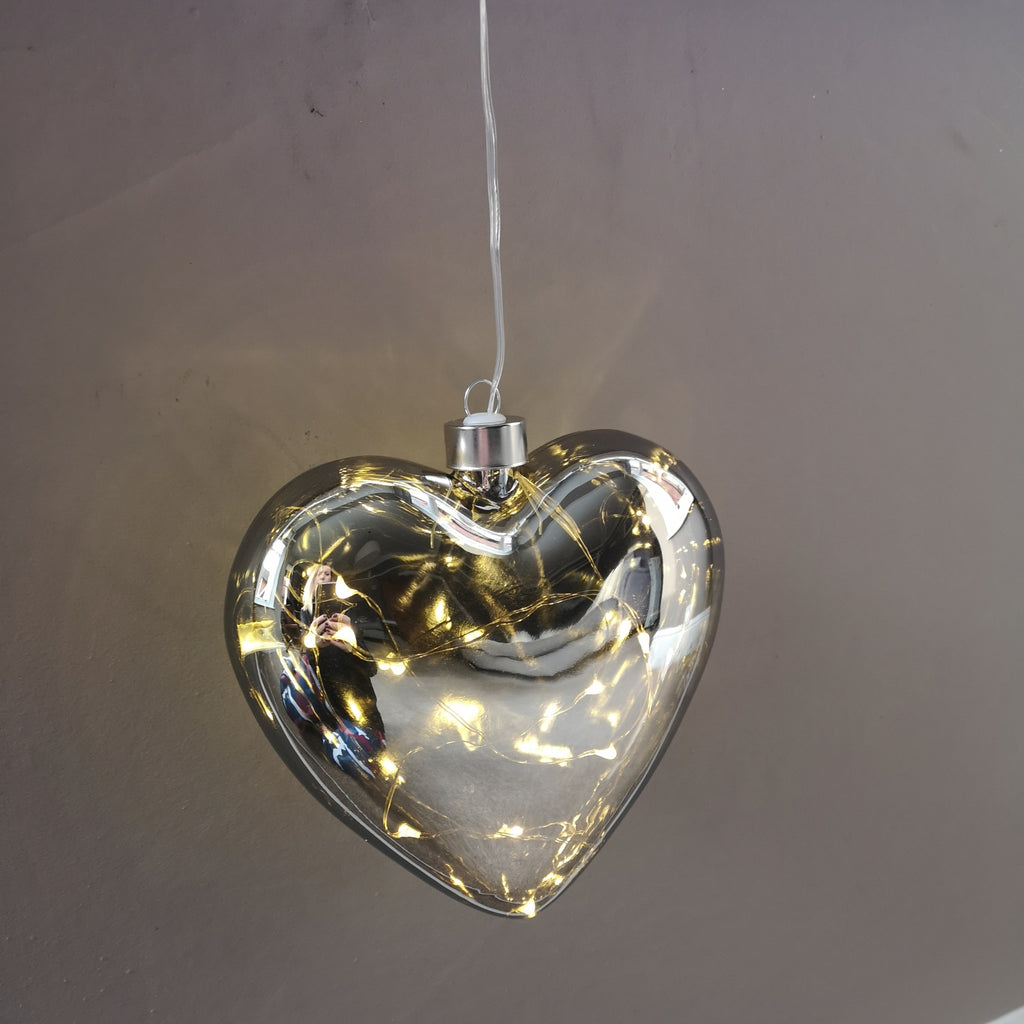 LED Heart Smoky Grey