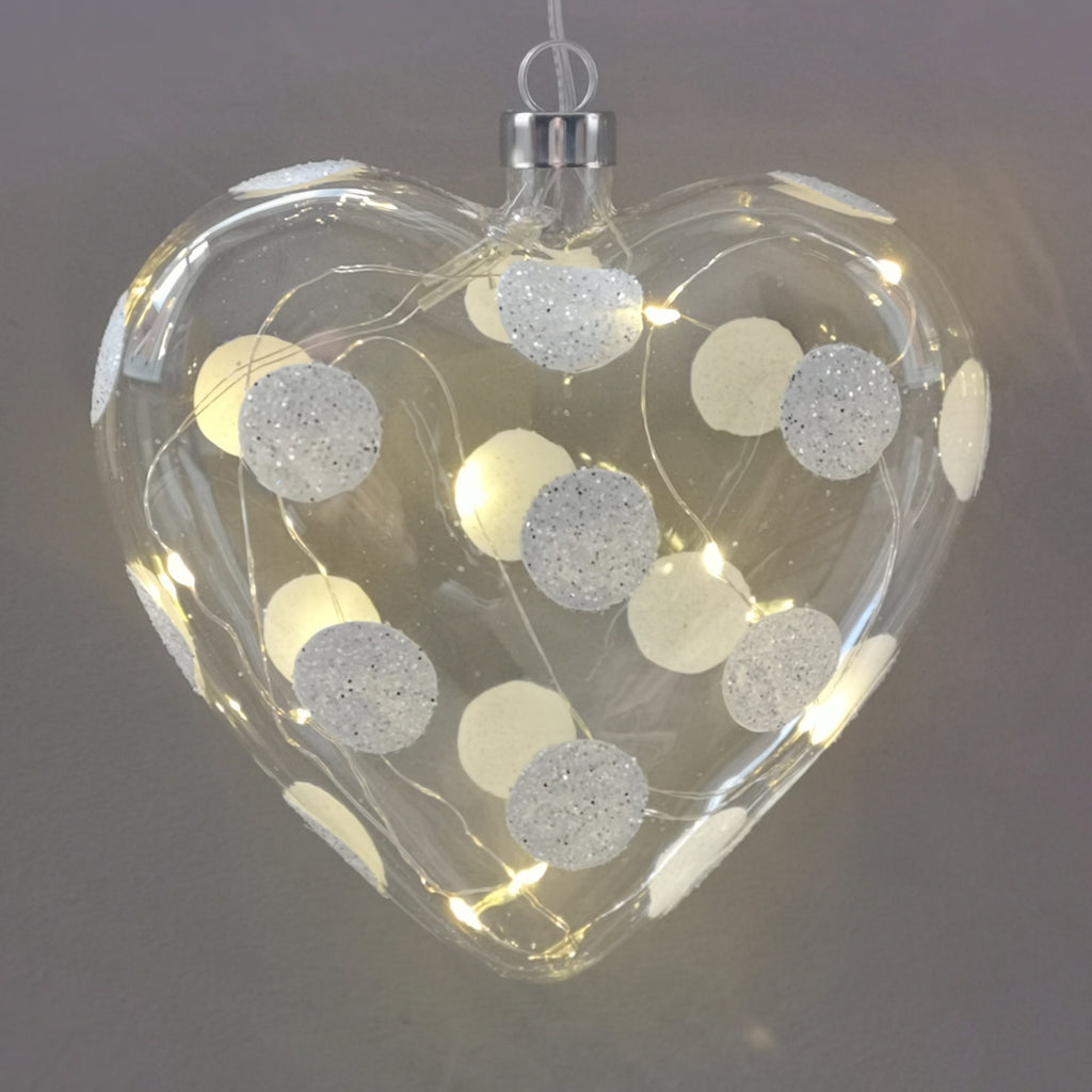 Polka Dot LED Heart
