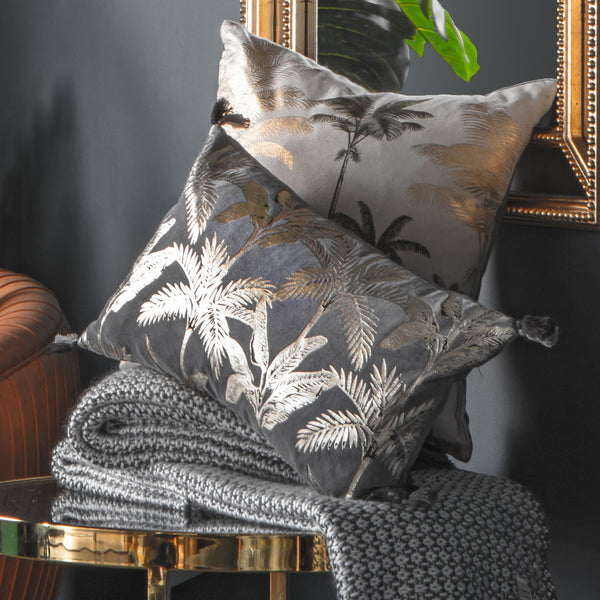 Metallic Tassel Cushion