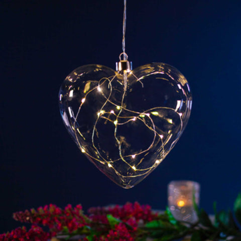 Glass LED Heart
