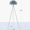 Grey Feather Tripod Floor Lamp