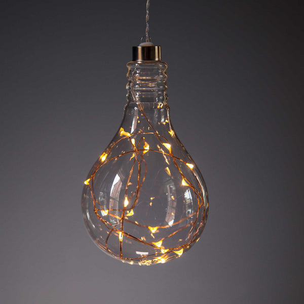 Single Hanging LED Bulb Copper