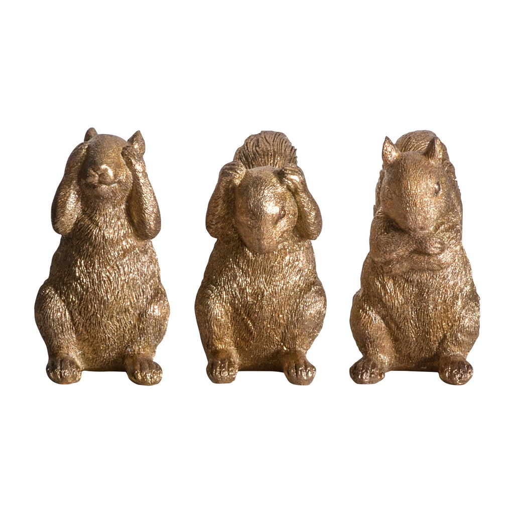 Gold Squirrel Ornaments