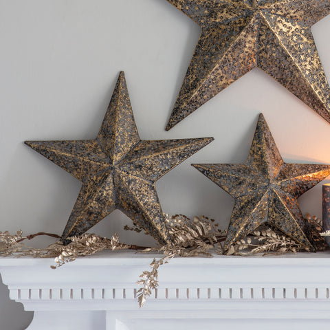 Antique Gold Metal Star