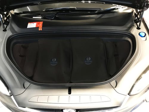Tesla Model X - 4 piece bespoke tailored luggage / storage solution for your Frunk
