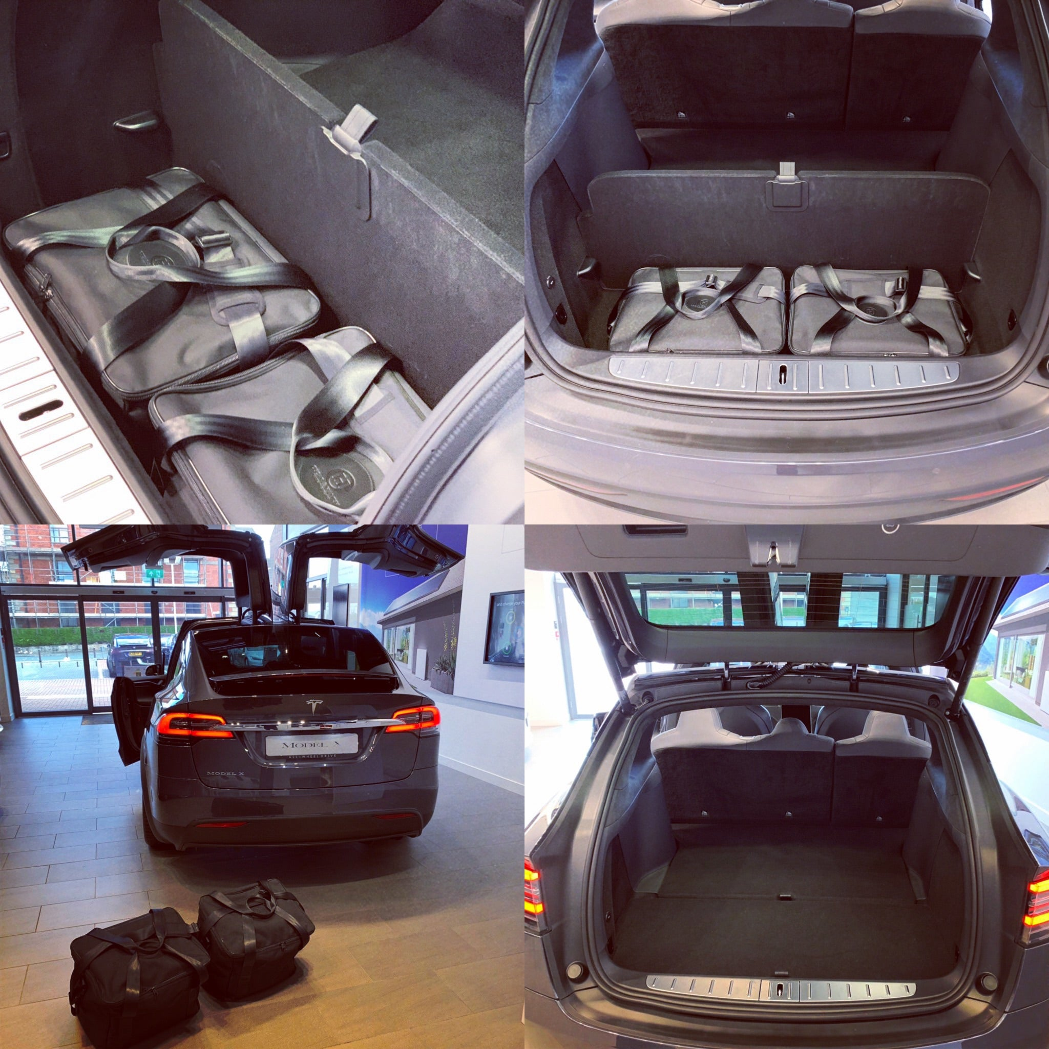 Tesla Model X - TRUNK 2 bag set - NEW v 2.0  'lower storage' bag set