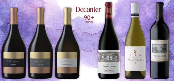 Decanter 90+ points awarded wines online shop Wijnen Rouseu