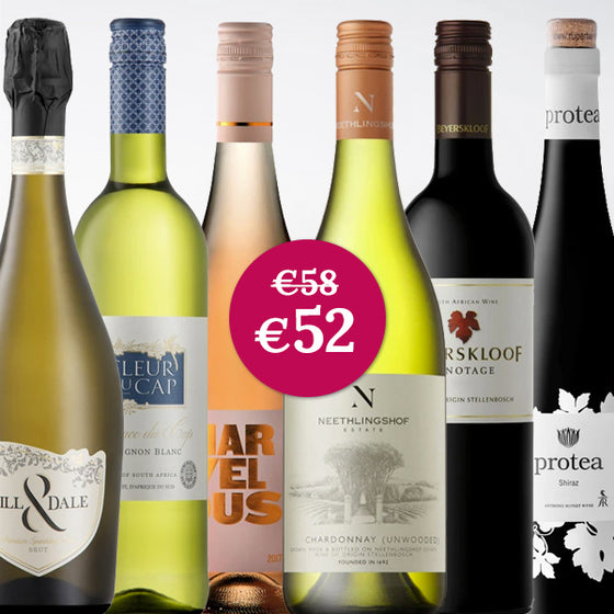 South Africa wines promo package Wijnen Rouseu