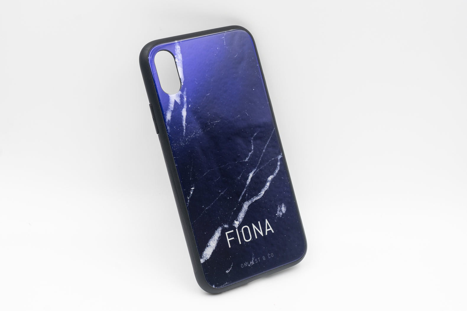 Black Marble Case (Glossy Glass) - iPhone