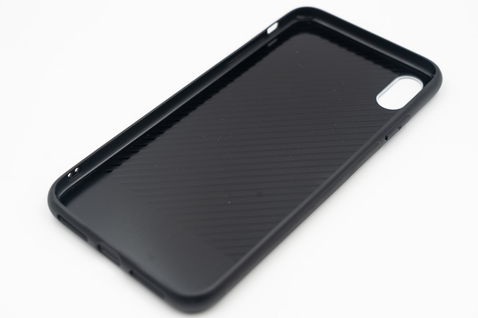 Black Water Marble Case (Glossy Glass) - iPhone